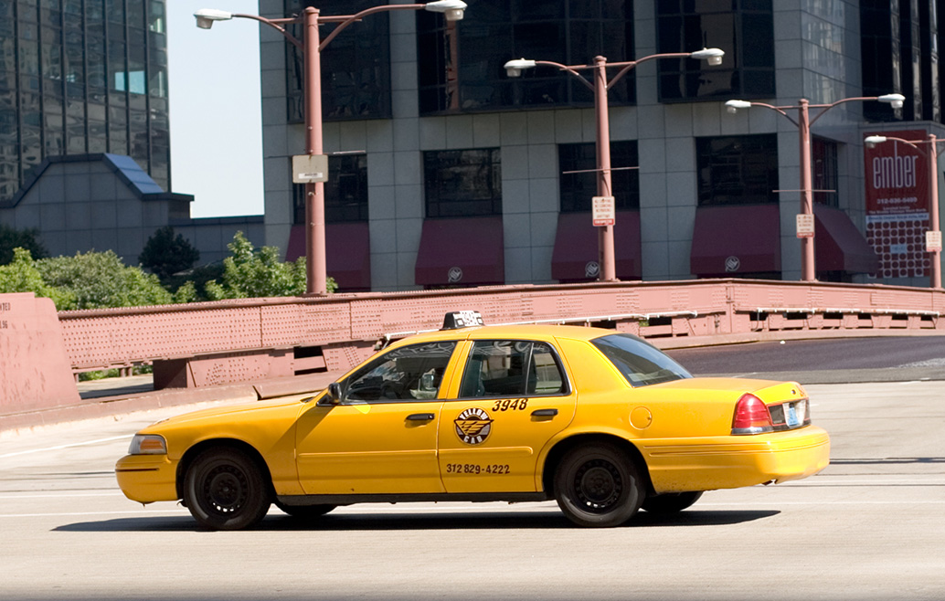 Taxi de la Yellow Cab Company de Chicago